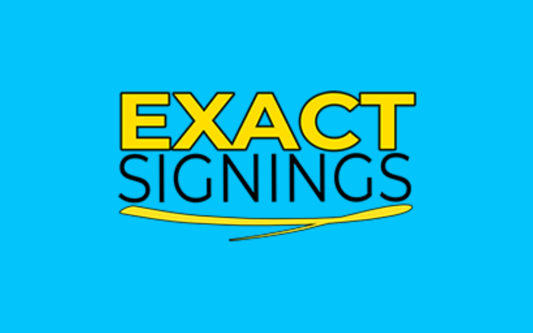 Exact Signings (Mobile Notary)